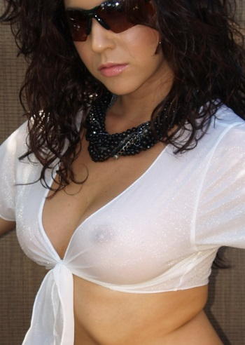 The Sheer TieTee shown here in Shiny White, sexy sophistication for only $29