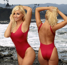 Sexy womens one piece swimwear including the Baywatch suit also in plus sizes by Brigitewear