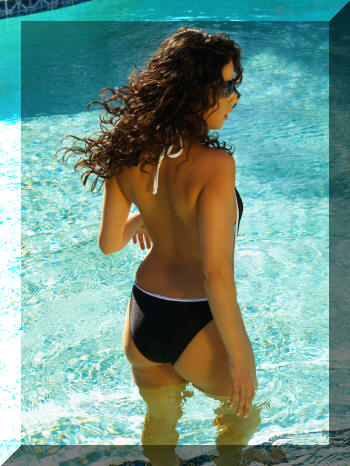 sheer bottom back with lined front one piece bathing suit