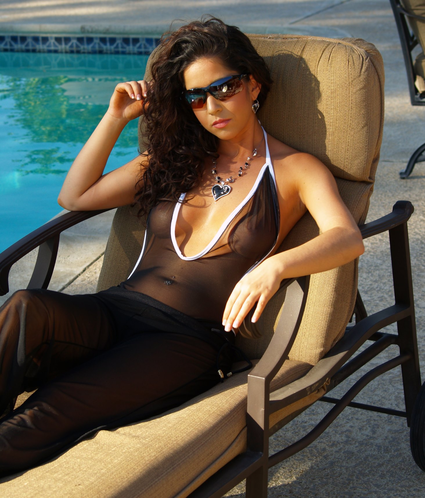 See through Sheer One Piece Swimsuits