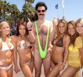 The original Borat thong swimsuit and other sexy men's thong swimsuits exclusively from Brigitewear