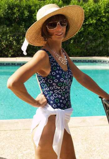 Brigitewear's White Sarong is a popular edition for almost any outfit