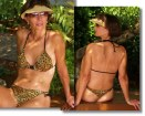 Bring out the animal in you or him with the Cheetah thong or Rio bottom bikini by Brigitewear
