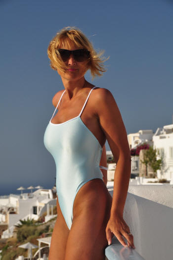 The Crisscross one piece swimsuit in Baby Blue