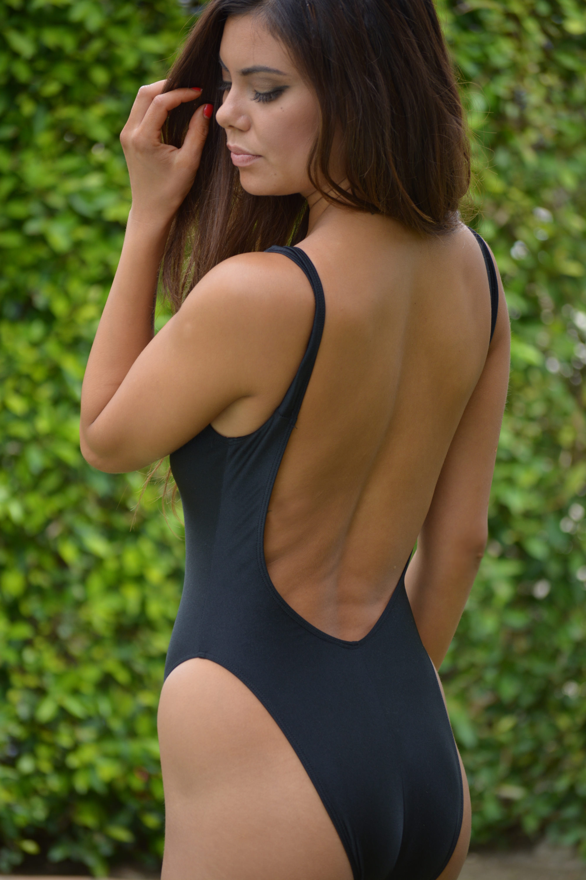 Deep V Sheer When Wet One Piece Swimsuit by Brigitewear c2ee878dded1