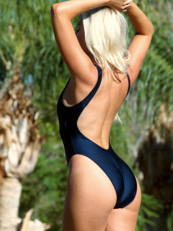 The stunning Hollywood one piece in Navy Blue