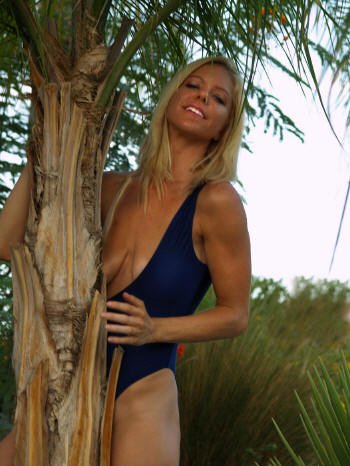 Mono topless one piece swimsuit by Brigitewear available in Navy Blue