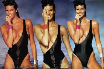 elle macpherson topless one piece swimsuit