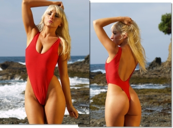 StRaphael thong one piece swimsuit for women by Brigitewear