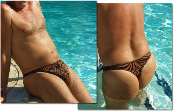 Men's thong swimwear