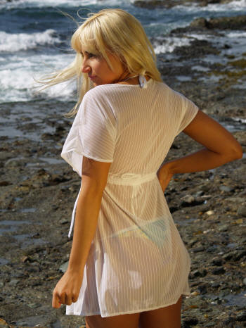 Swimwear cover-ups and Sarongs by Brigite for Brigitewear made in the USA