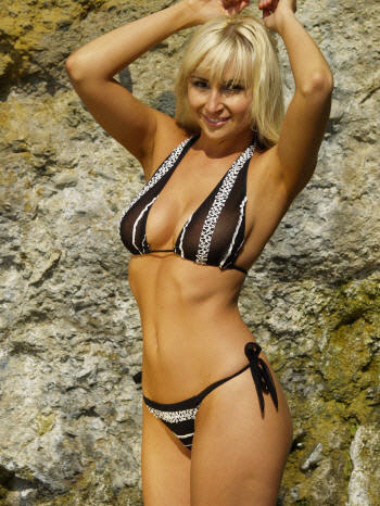 Sequins and Lace sheer tan thru bikini swimwear by Brigitewear made in the USA