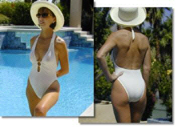 The Sheer Magic sheer when wet classic one piece swimsuit for women