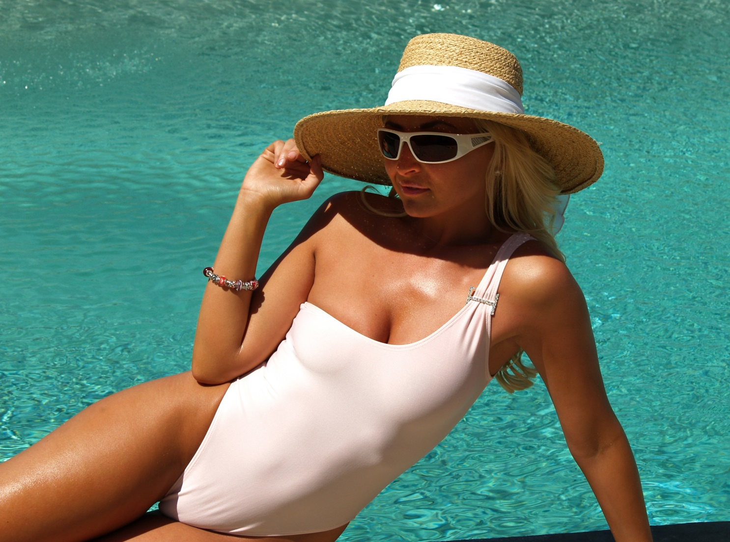 Sheer When Wet One Piece Swimsuits