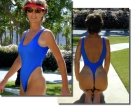 Our best selling St. Raphael thong one piece swimsuit is lined in front and oh so hot!