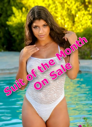 Suit of the Month - May -thong or Rio bottom Sheer One Piece