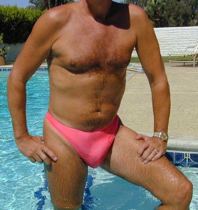 Sheer swimwear semi