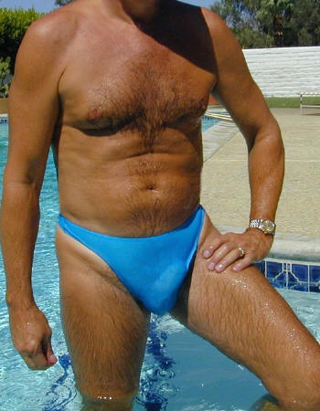 LAmant sheer when wet mens thong swimsuit