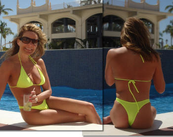 neon yellow thong swimwear