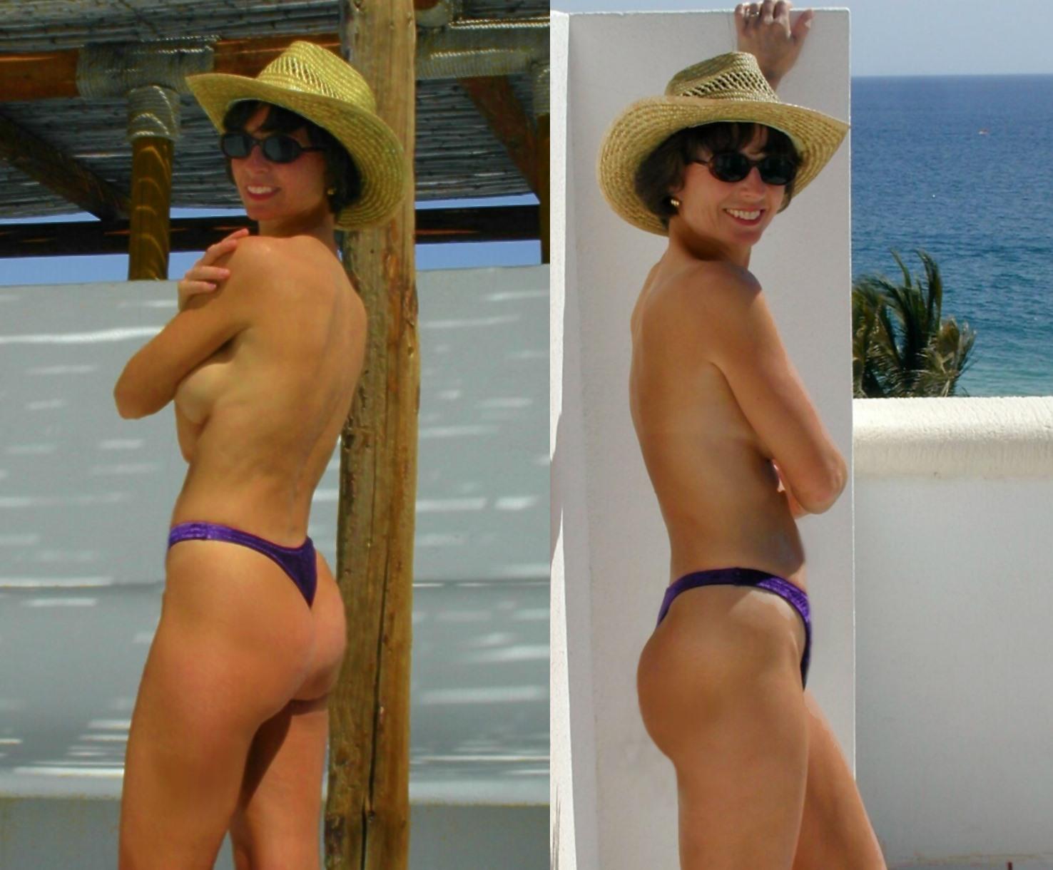 Bikini Thong Topless 41