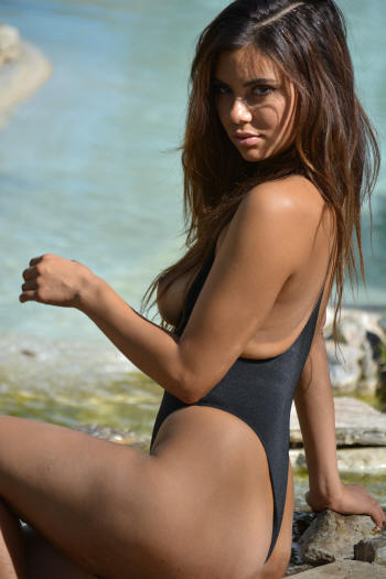 Versaille topless one piece bathing suit by Brigitewear