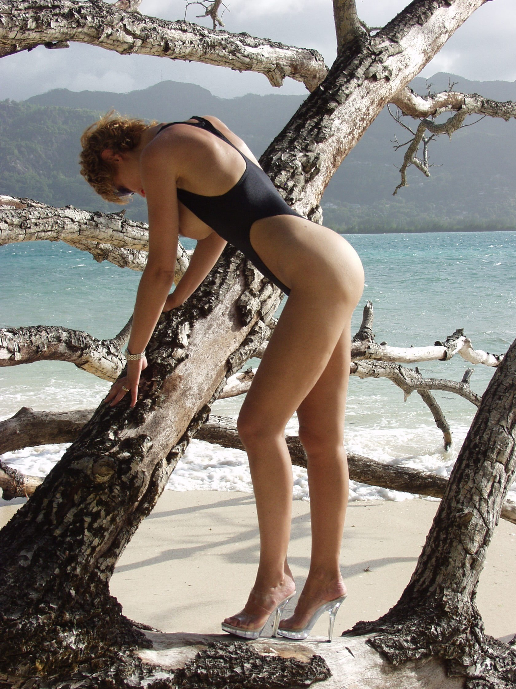 Milf one piece bathing suit
