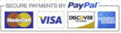VIsa MasterCard Discover American Express and PayPal accepted