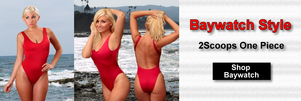Baywatch styled 2Scoops One Piece Swimsuits