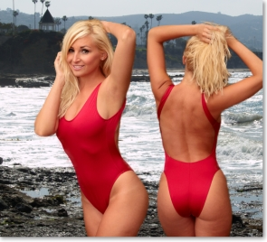 women's baywatch swimsuit the 2scoops one piece bathing suit
