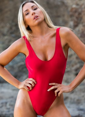 Baywatch Women's one piece bathing suit by Brigitewear