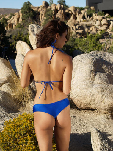 Cheeky thong bikini bottom Royal Blue