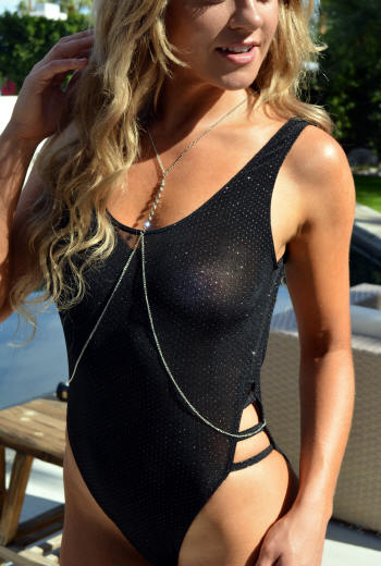 sheer breezy mightnight sky one piece swimsuit