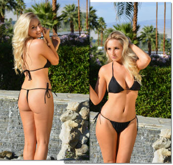 BriG-gstring bikini swimsuit in black