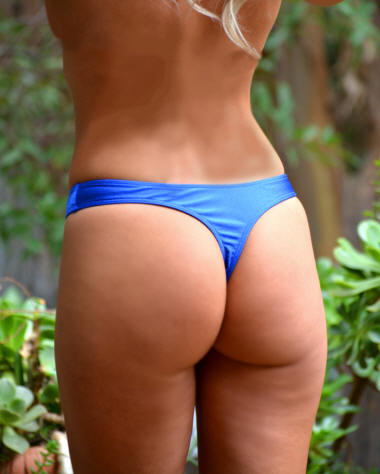 Cannes thong bikini swimsuit Royal Blue