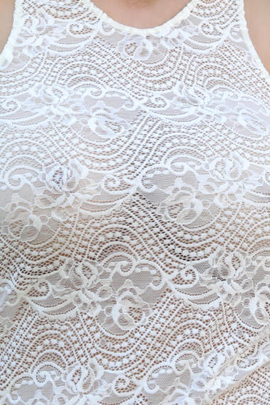 Close up view of Ivory Lace