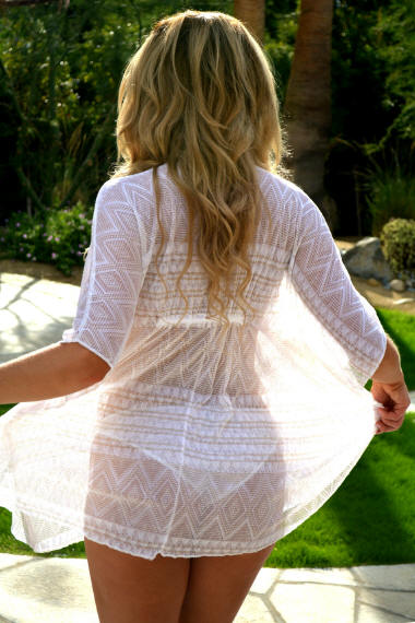 Sheer Desert Gold Poncho cover-up