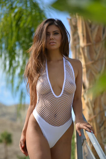 sexy see through top thong one piece bathing suit