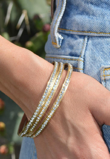 Gold Bangles set of 3