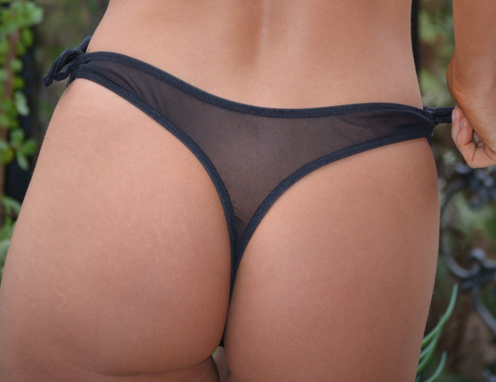 39e8d33167fea Sheer mesh thong bottom lined in front