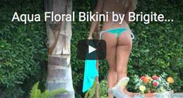 Aqua Floral Bikini