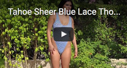 Video Tahoe Sheer Blue Lace Thong