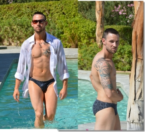 Men's swimwear, thong swimsuits and speedo style bathing suits