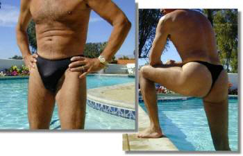 The Azur men's thong swimsuit in Black