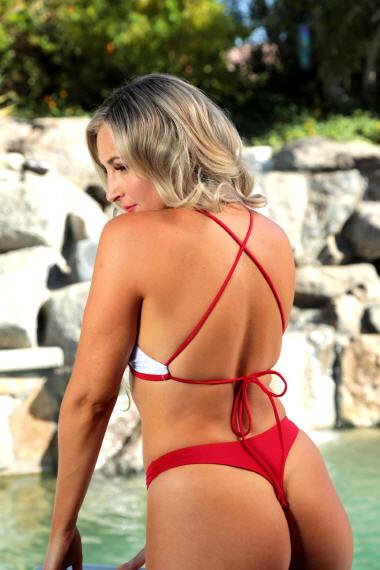 Sexy Crossback bikini top eliminates neck pressure