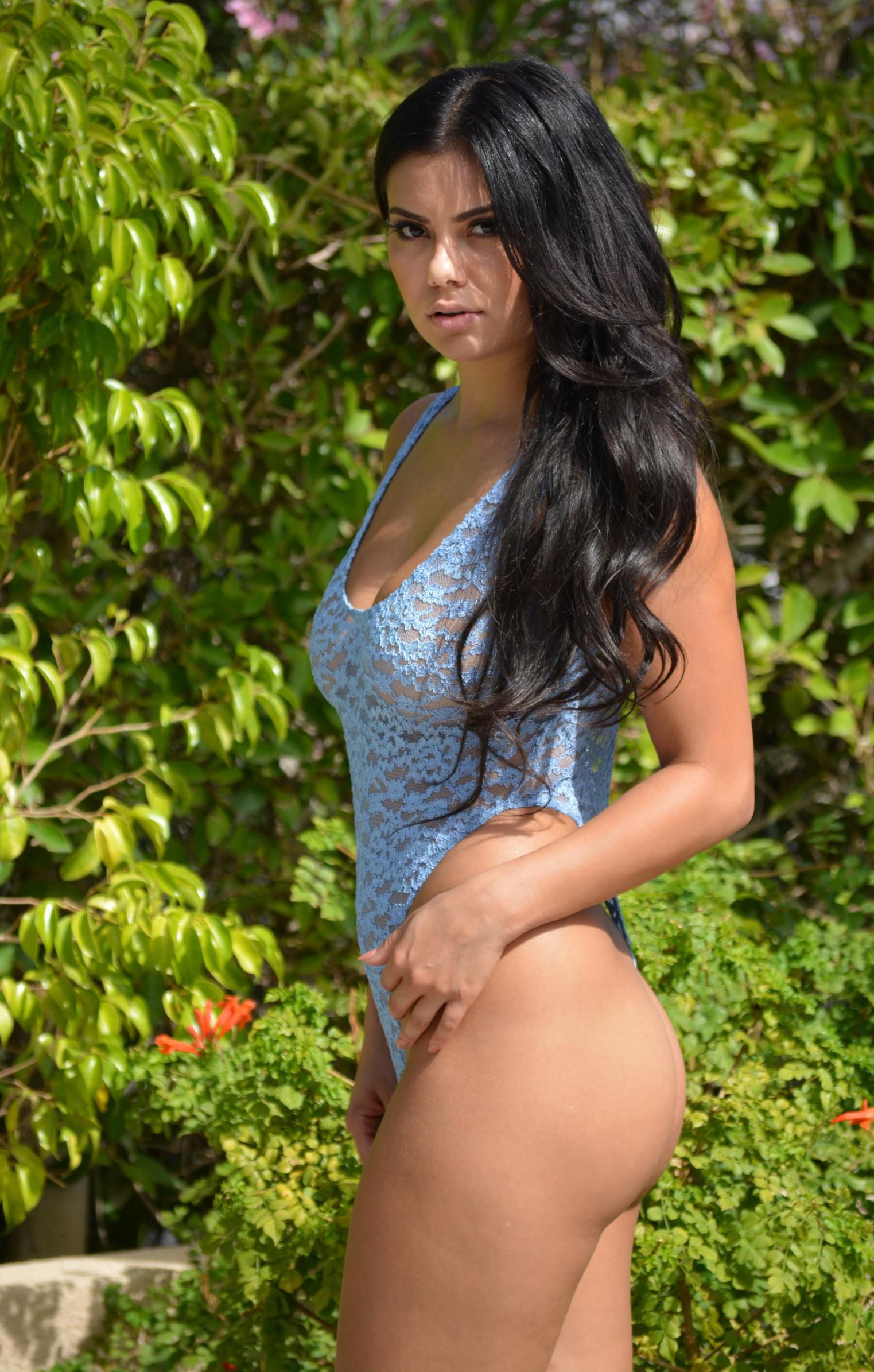 Lace bikini sheer