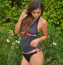 Tankini swimwear with bikini bottoms by Brigitewear
