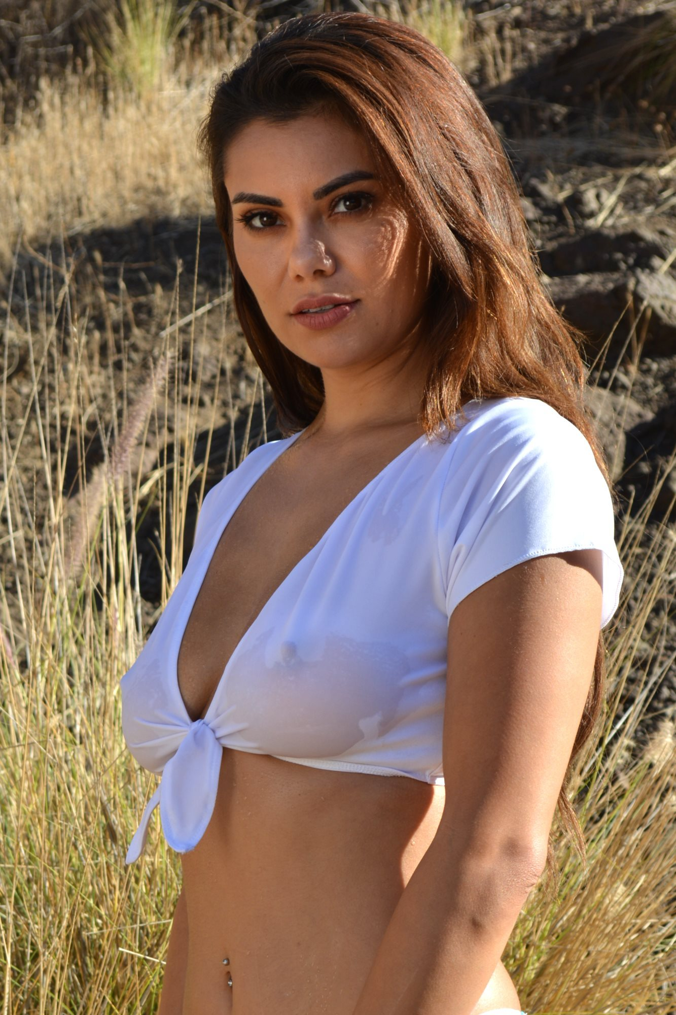 Sheer tietee t shirt by brigitewear for White t shirts that aren t see through
